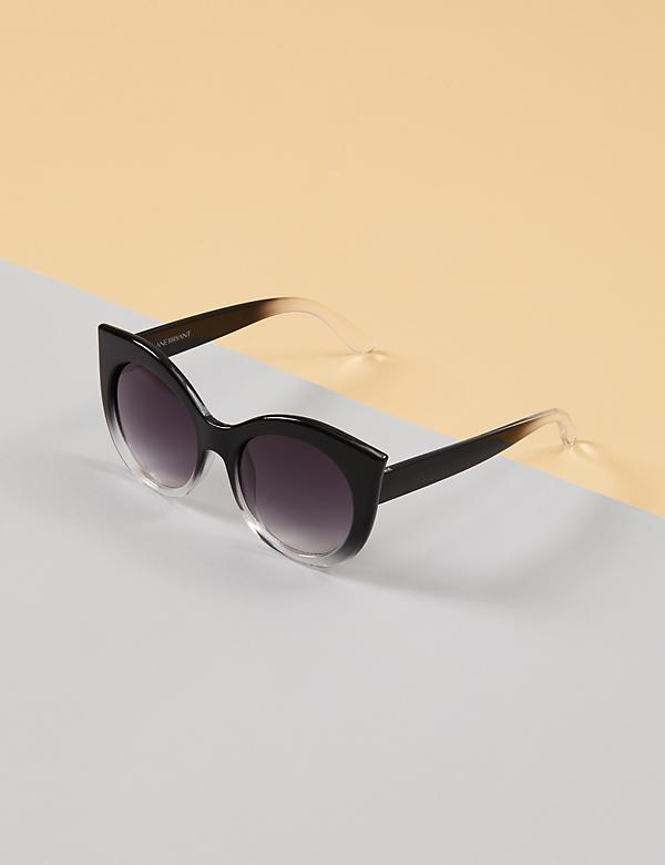 Ombre Rounded Cateye Sunglasses