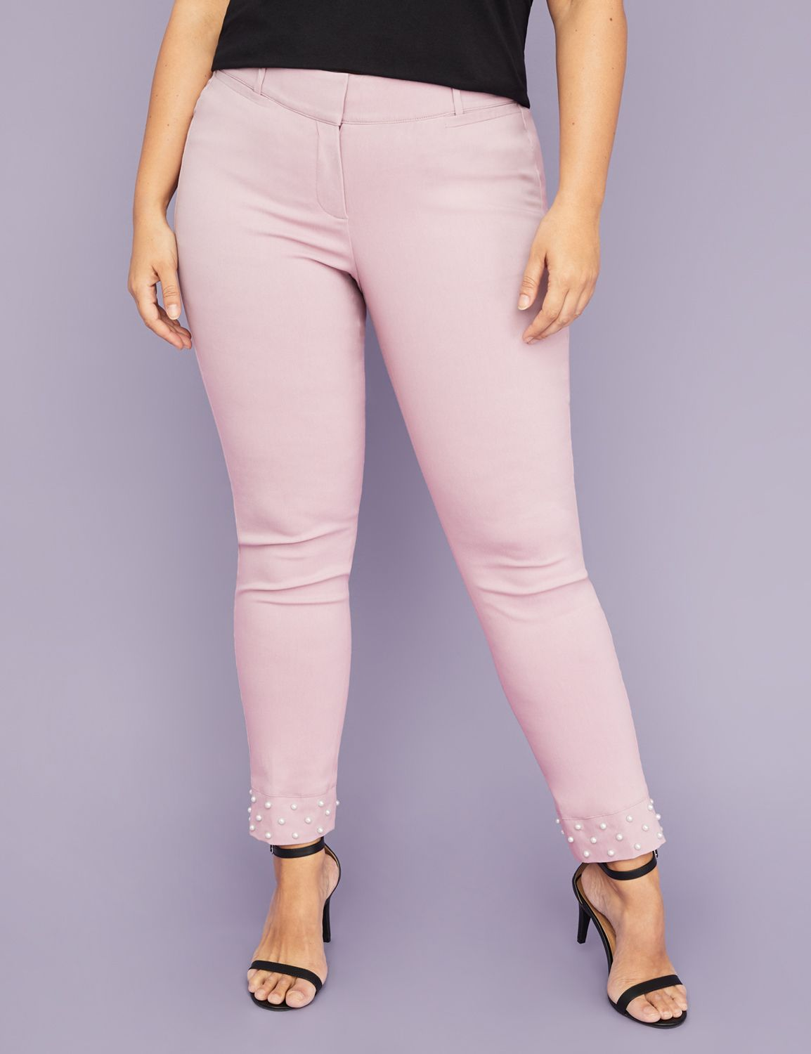 Petite Power Pockets Allie Sexy Stretch Ankle Pant - Pearl Hem