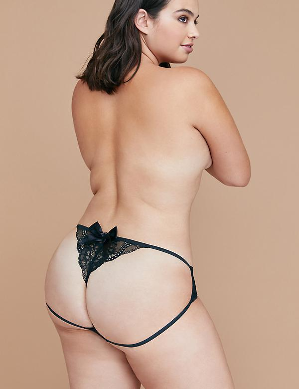 Lace Open Bow-Back Panty