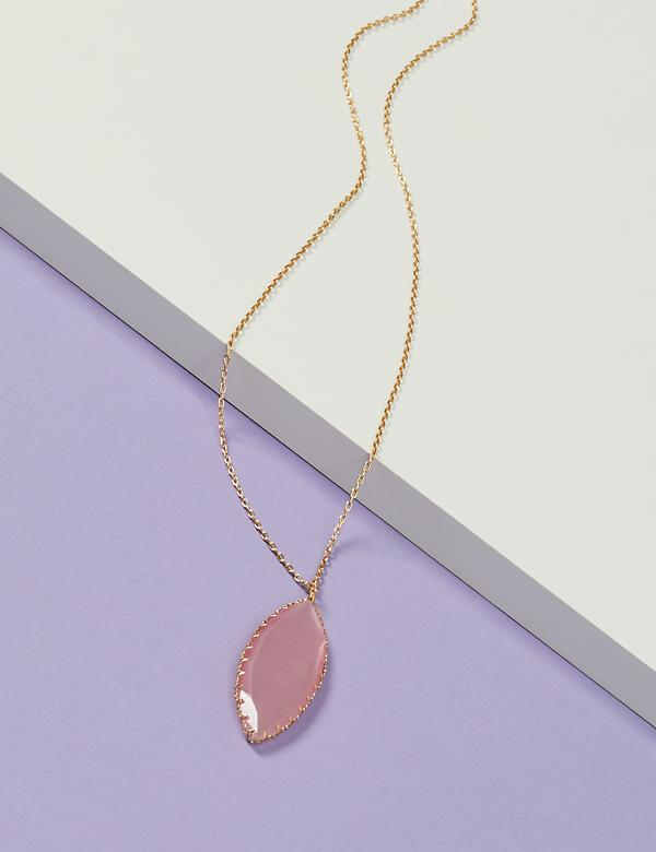 Marquise Stone Pendant Necklace