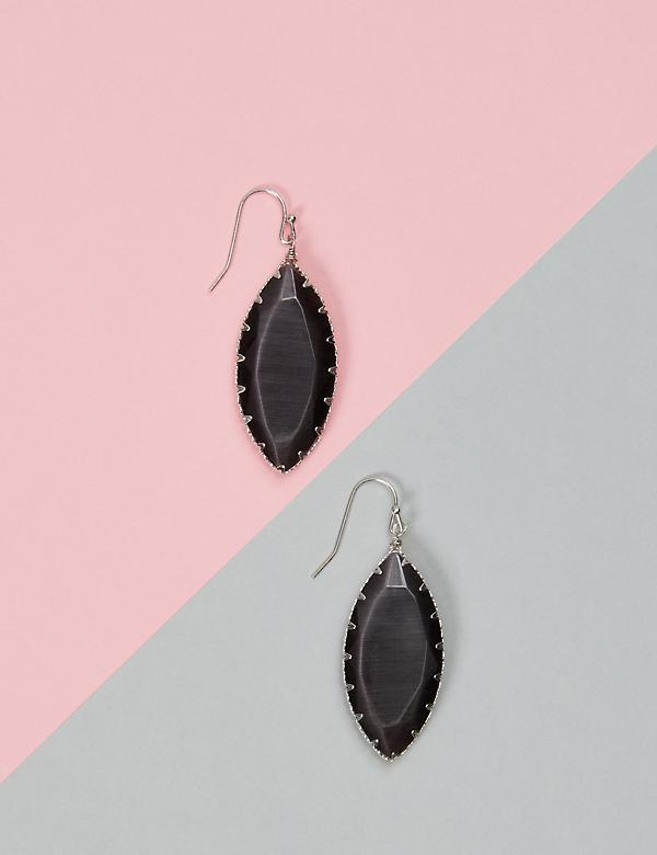 Marquise Stone Drop Earrings