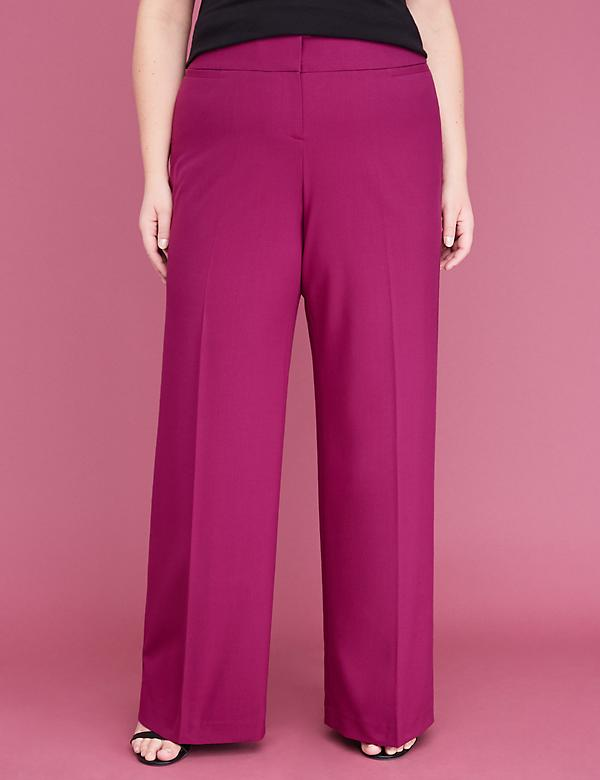 Allie Tailored Stretch Wide Leg Pant - Purple