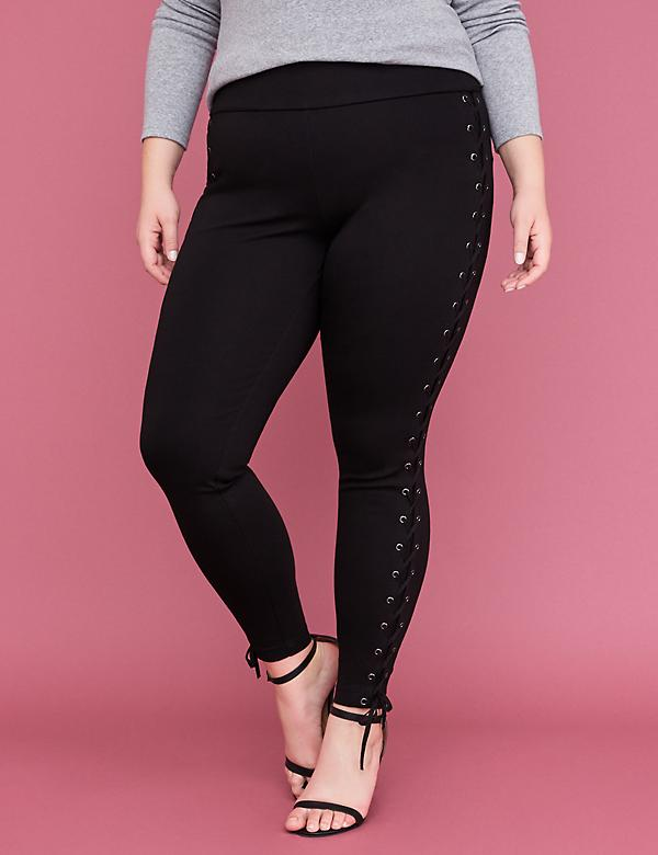 Innersculpt Ponte Legging - Lace-Up