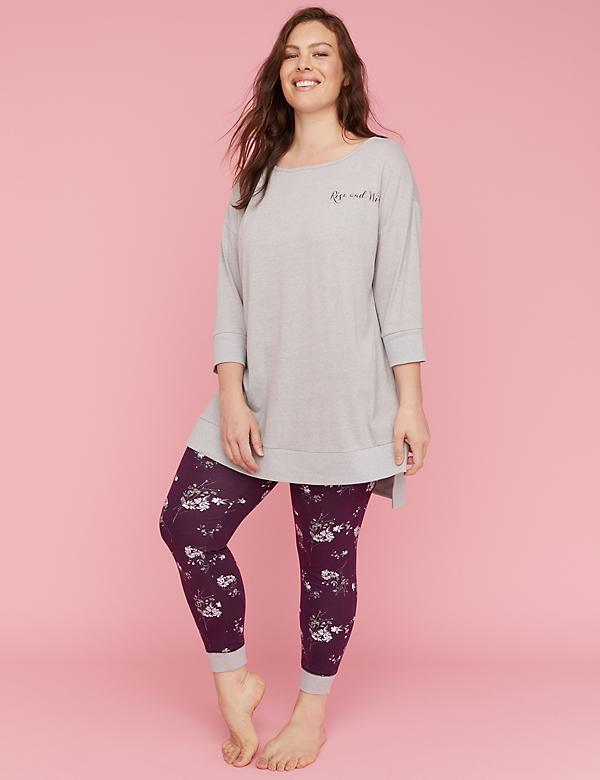 Dolman Short-Sleeve Top & Legging PJ Set