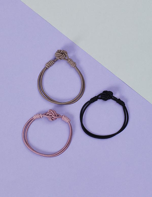 Knotted Hair Ties - 3 Pack