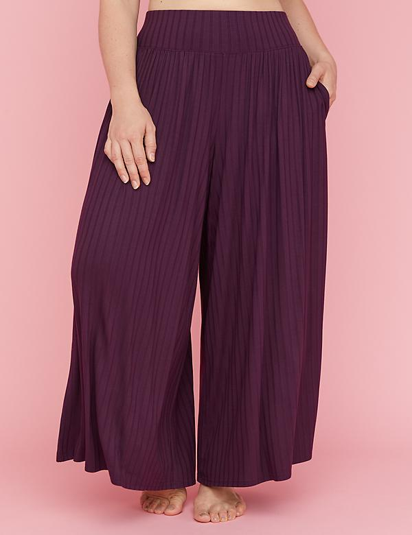 Ribbed Wide Leg Sleep Pant