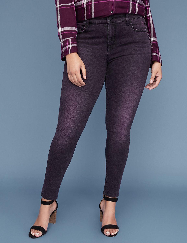 Super Stretch Skinny Jean - Purple Overdyed Black