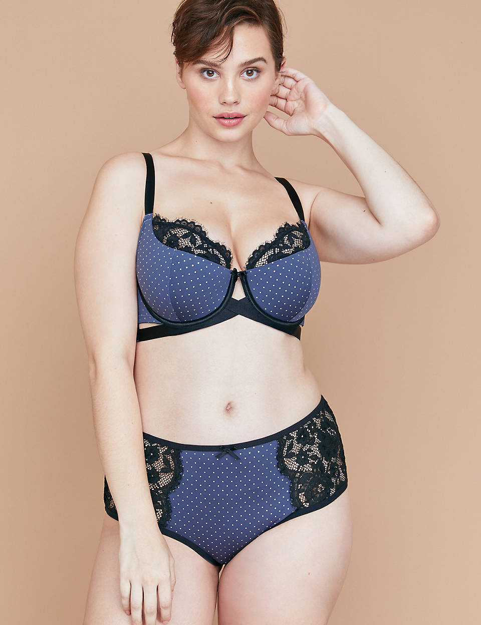 0e4199b07 Lightly Lined French Balconette Bra - Foil Dots   Lace