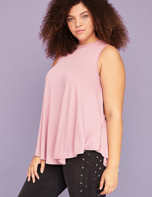 High-Neck Sleeveless Tunic