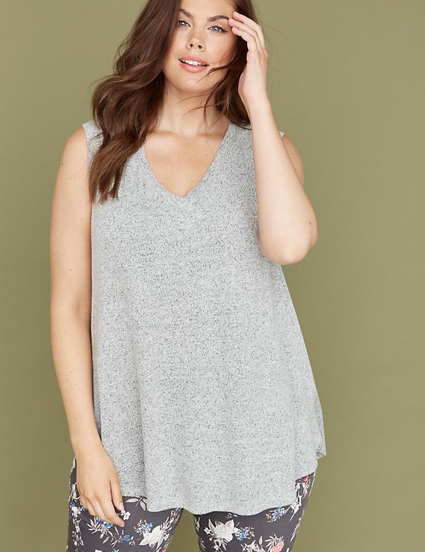 High-Low Hem Hacci Tank