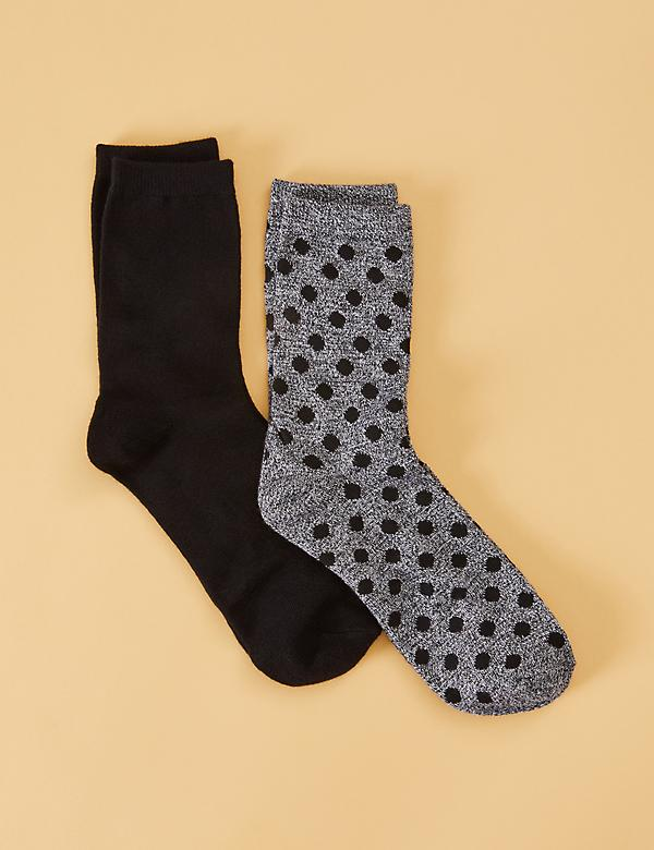 Crew Socks 2-Pack - Mélange Dot & Solid