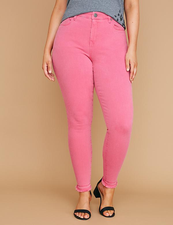Fast Lane Super Stretch Skinny Jean - Fuchsia Rose