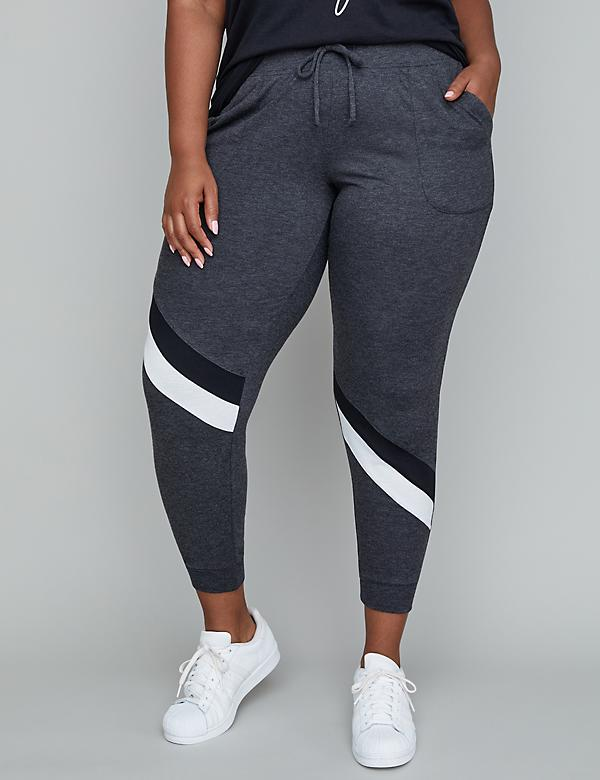 French Terry Active Jogger - Asymmetrical Splicing