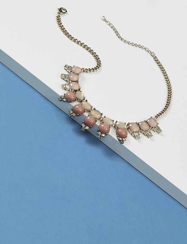 Stone Drop Statement Necklace