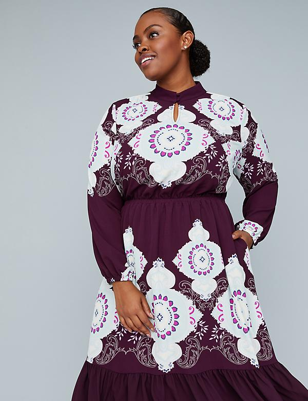 Girl With Curves Medallion Print Dress