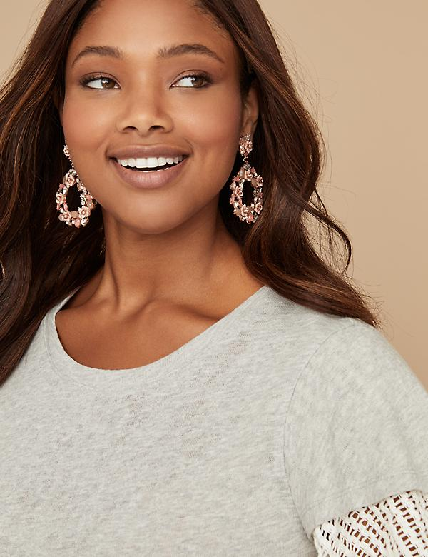 Floral Statement Earring