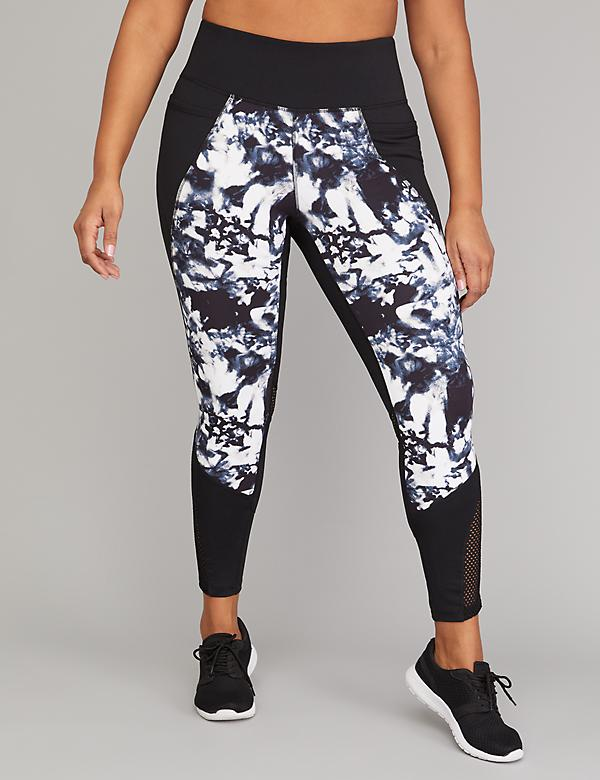Wicking Active 7/8 Legging - Printed with Mesh