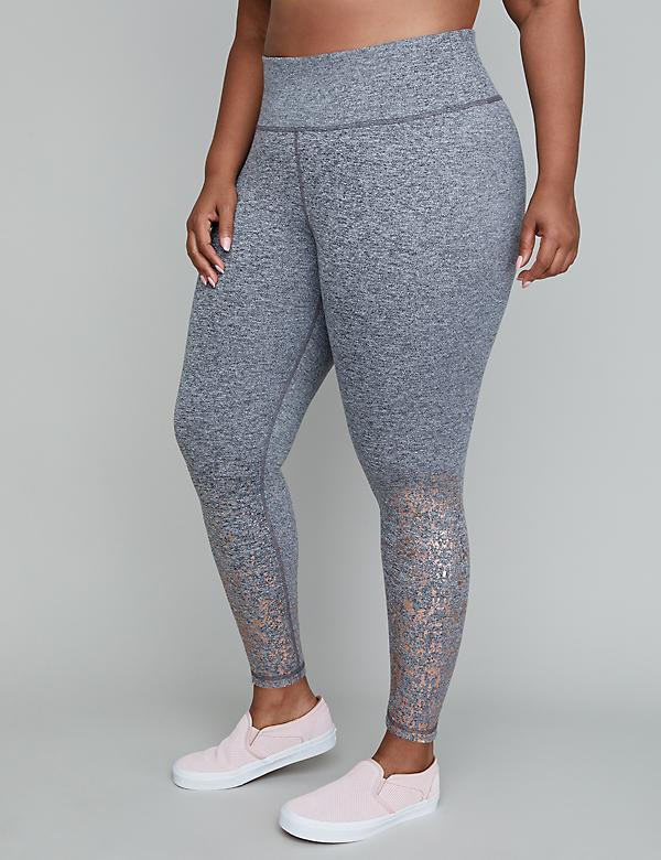 Wicking Active 7/8 Legging - Metallic Splatter Print