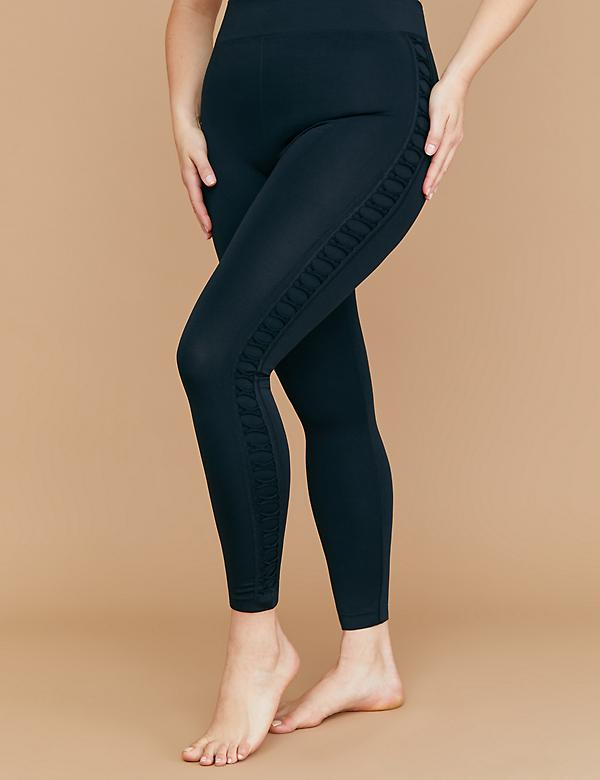Seamless Leggings - Criss-Cross Side Stripe