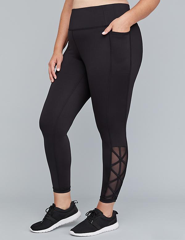 Wicking Active 7/8 Legging - Mesh & Criss-Cross Straps