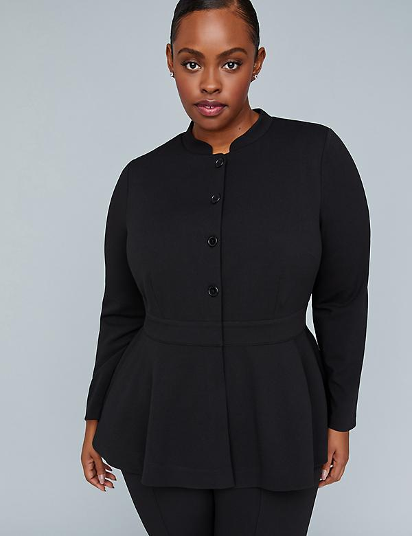 Girl With Curves Peplum Jacket