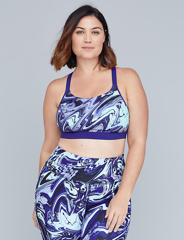 LIVI Active Low-Impact Wicking Sport Bra - Reversible Marble