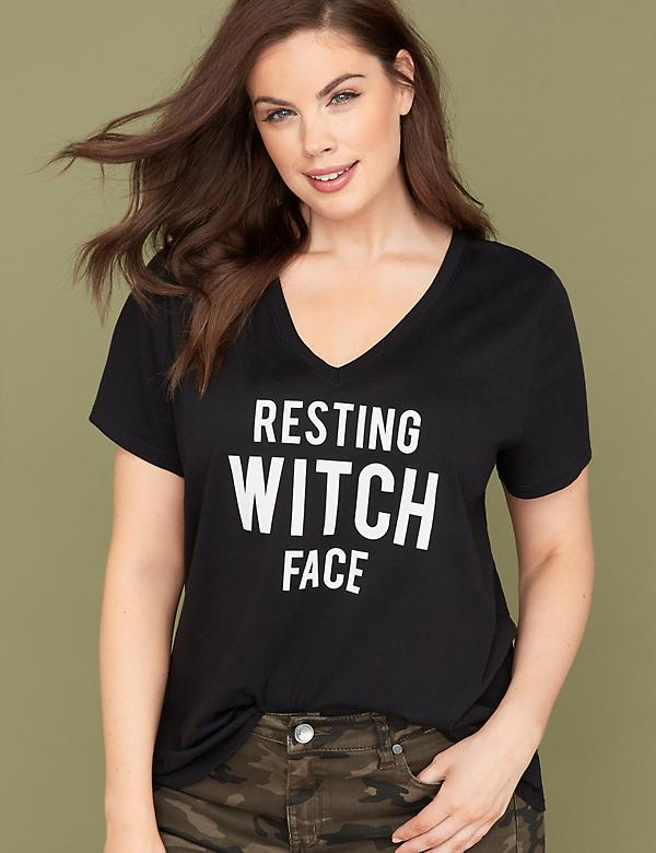 Witch Face Graphic Tee