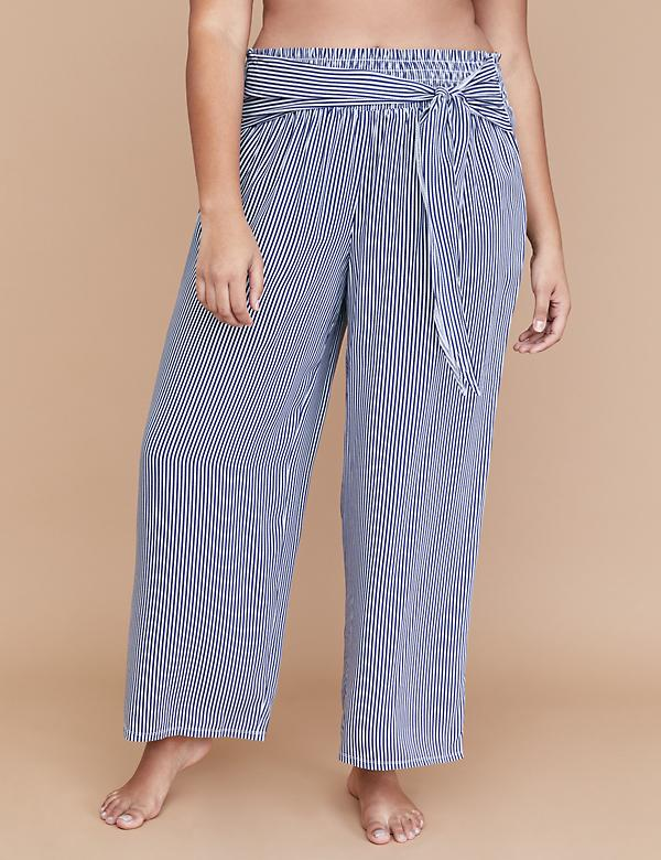 Wide Leg Cover-Up Pant - Tie Waist