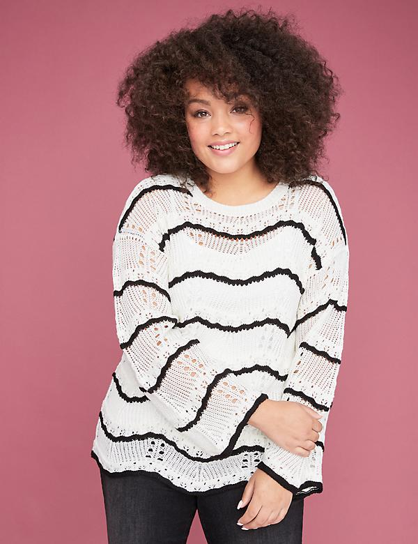 Textured Stripe Stitch Sweater