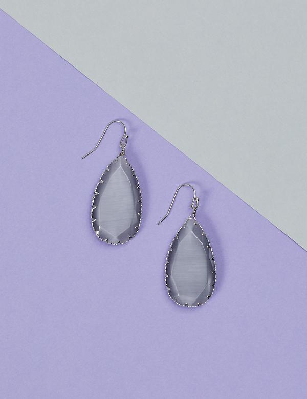 Teardrop Stone Drop Earrings