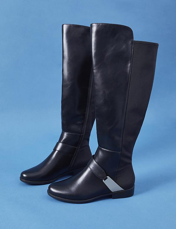 Over-the-Knee Boot with Metal Harness Hardware