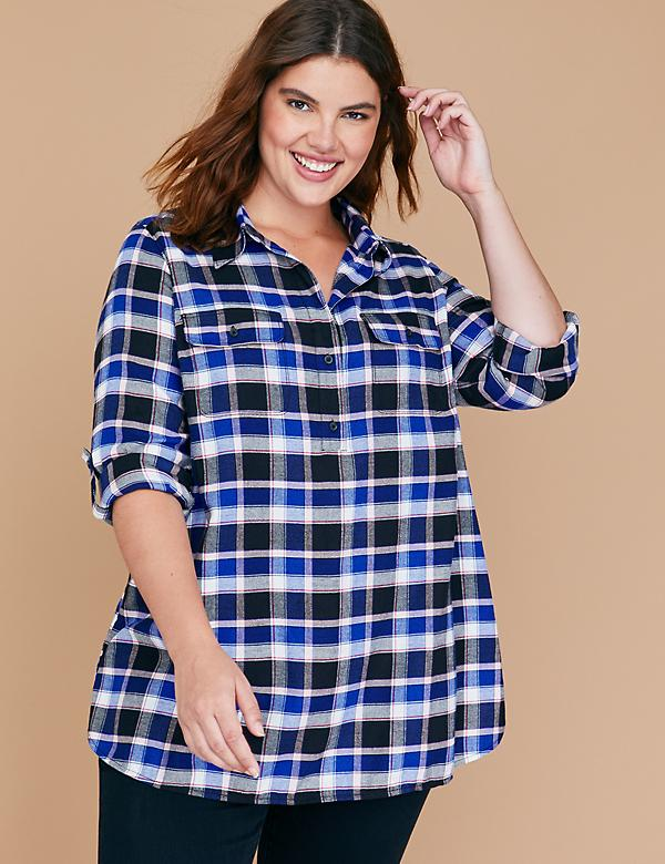 Plaid Popover Shirt