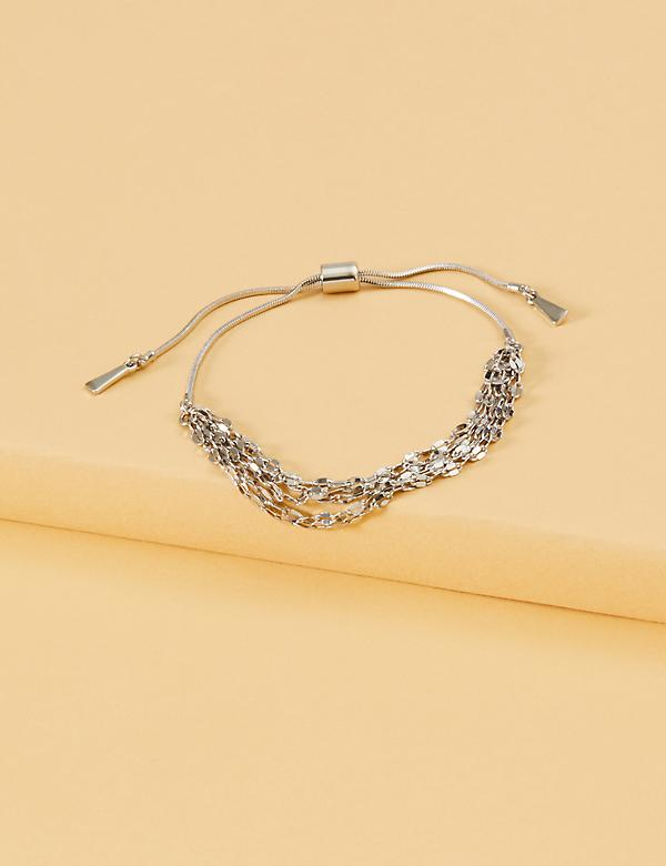 Multi-Strand Adjustable Slider Bracelet
