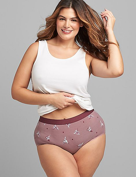 Cotton Full Brief Panty with Wide Waistband