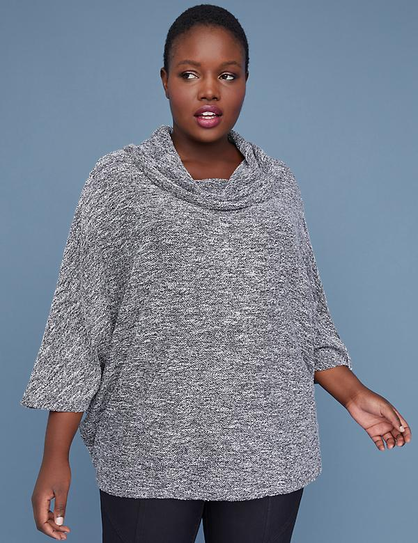 Funnel-Neck Dolman Top