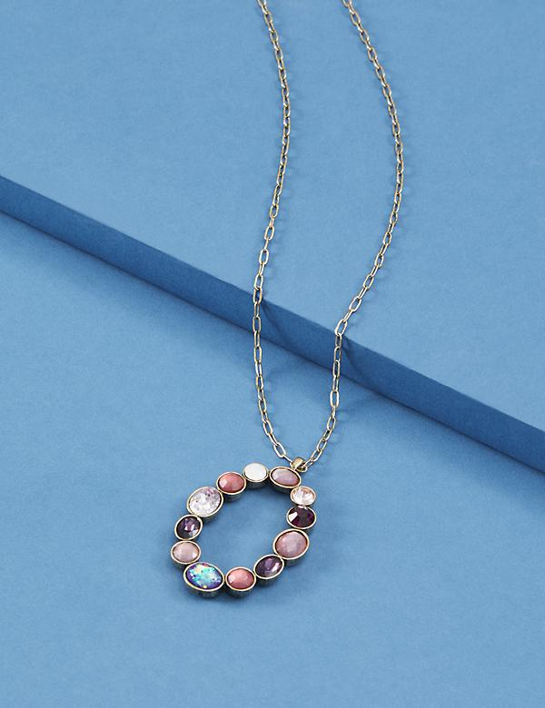 Multi-Stone Pendant Necklace
