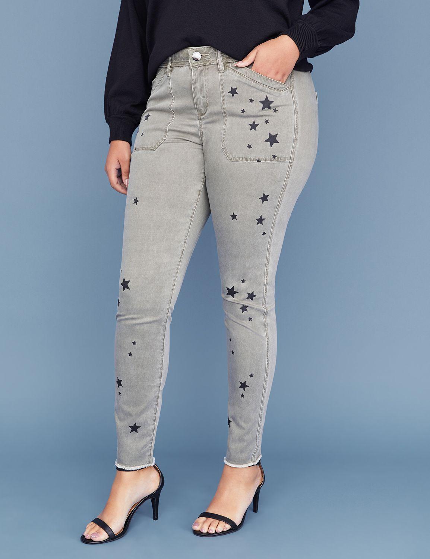 Petite Utility Skinny Pant - Star Print