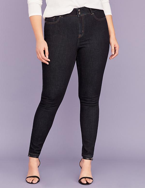 Tighter Tummy Essential Stretch High-Rise Skinny Jean - Dark Wash
