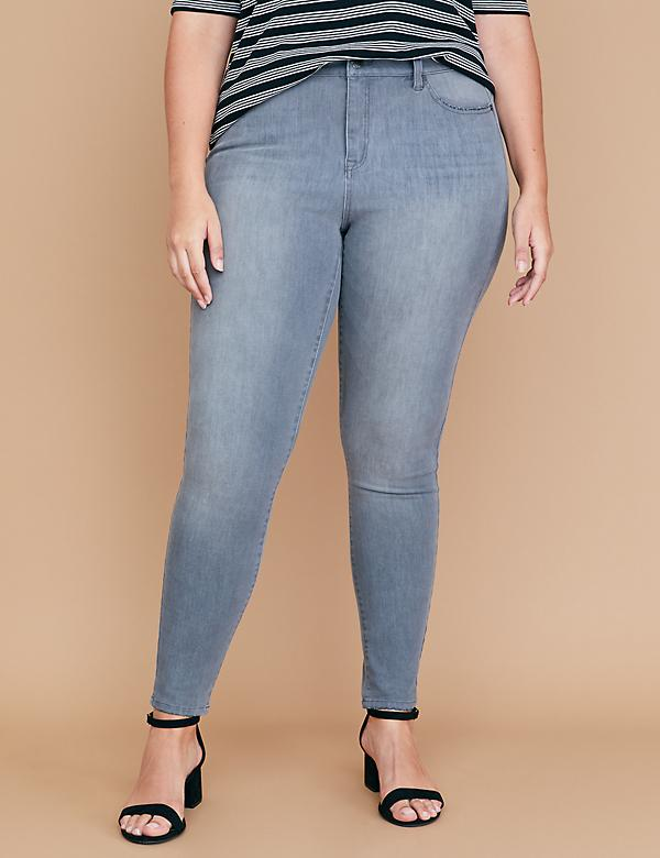 Ultimate Stretch High-Rise Skinny  Jean - Platinum Gray Wash