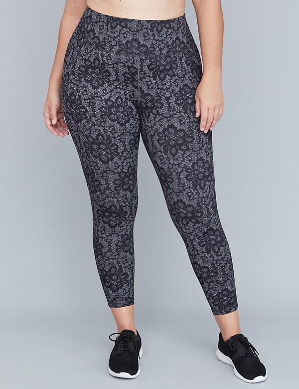 Wicking Active 7/8 Legging - Lace Print
