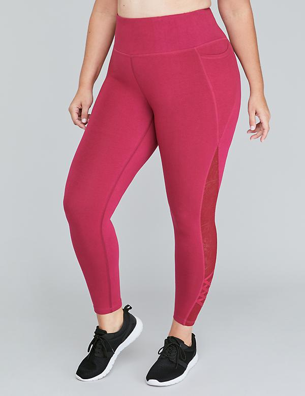 Signature Stretch Active 7/8 Legging - Strappy Lace Inset