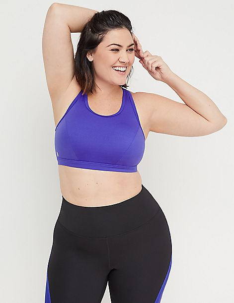 Low-Impact Wicking Sport Bra - No-Wire Graphic Phone Pocket