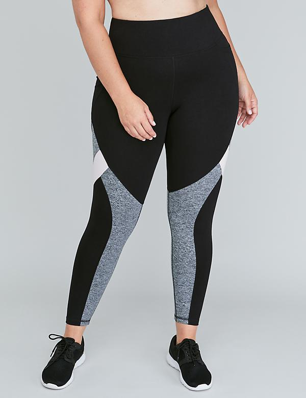 Signature Stretch Active 7/8 Legging - Colorblock Splicing