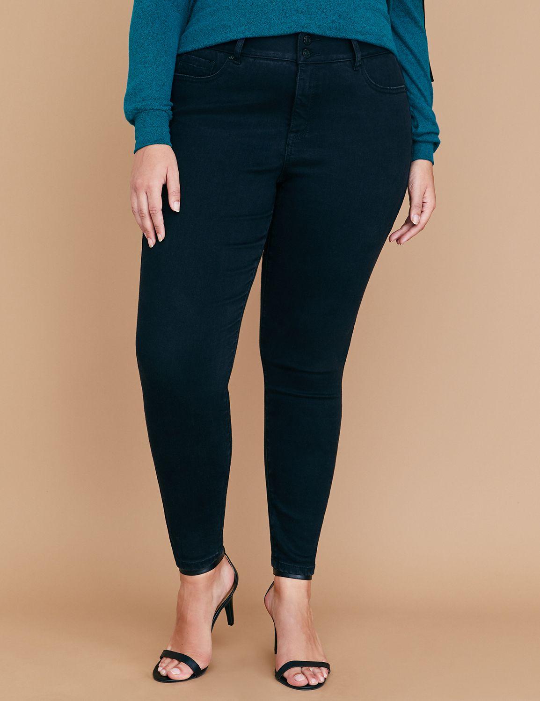 Petite Tri-Sculpt Essential Stretch High-Rise Skinny Jean - Black