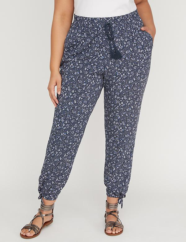 Printed Soft Ankle Pant