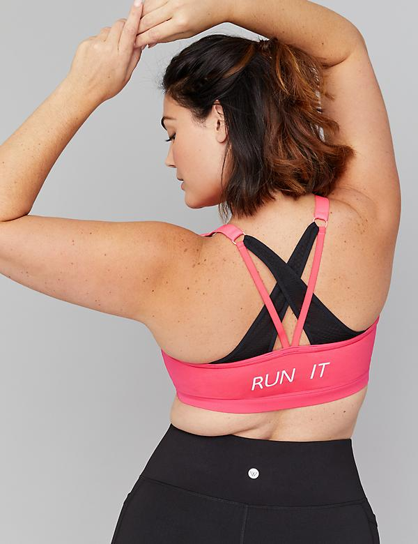 Low-Impact Wicking Sport Bra - Graphic Strappy Back
