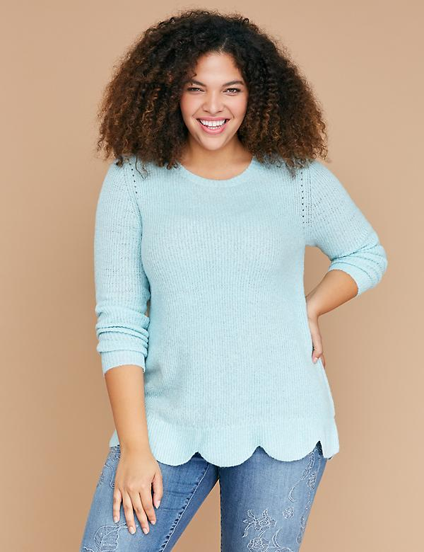 Scallop-Hem Sweater