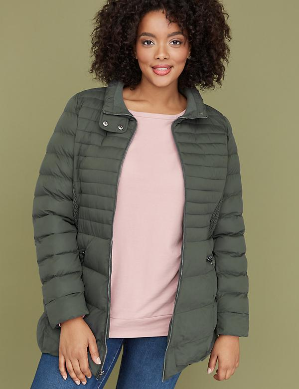 Stretch Puffer Jacket - Ivy Green