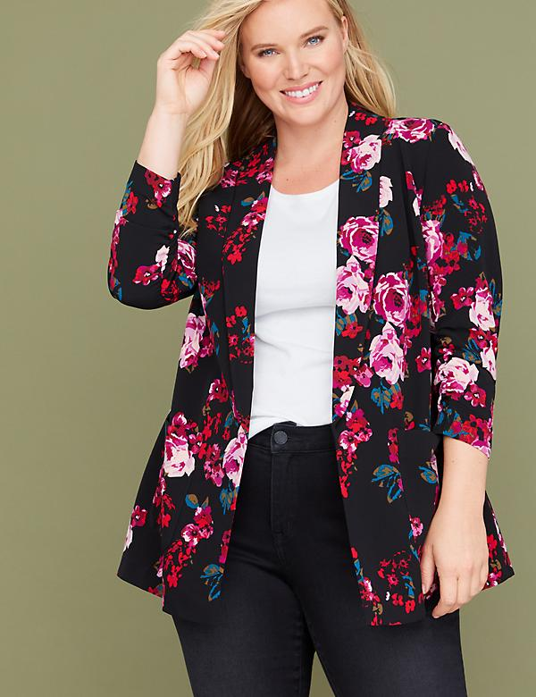 Rose Print Soft Jacket
