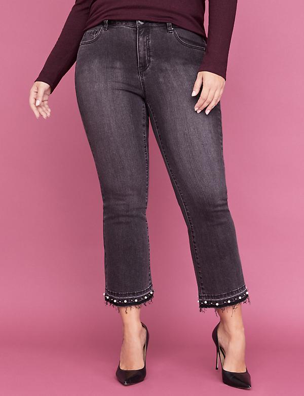 ff1f20e249a Essential Stretch Kick Boot Jean - Faded Black with Pearl Hem